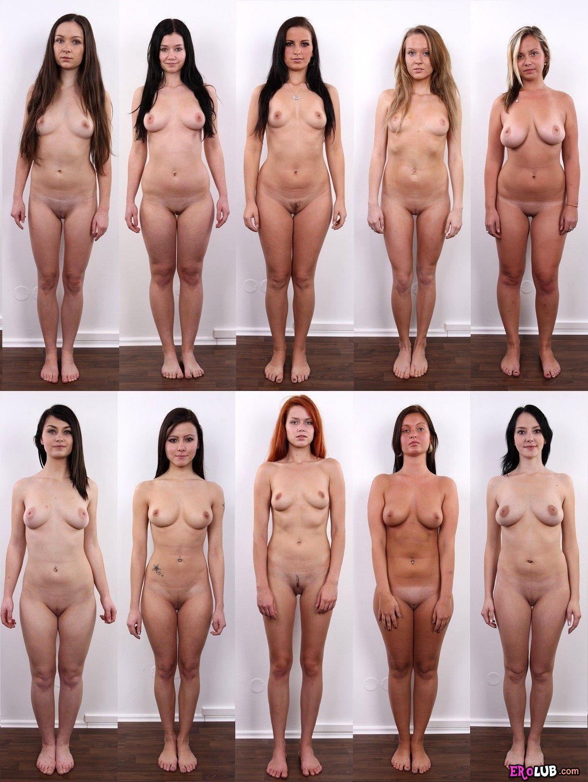 Голые девушки на фото проходят кастинг в порно