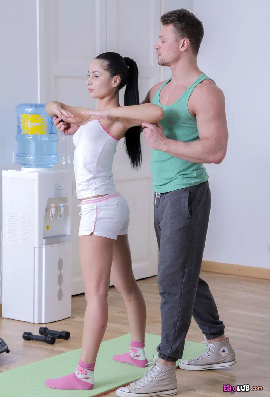 Секс с тренер во время тренировка 22 фотография