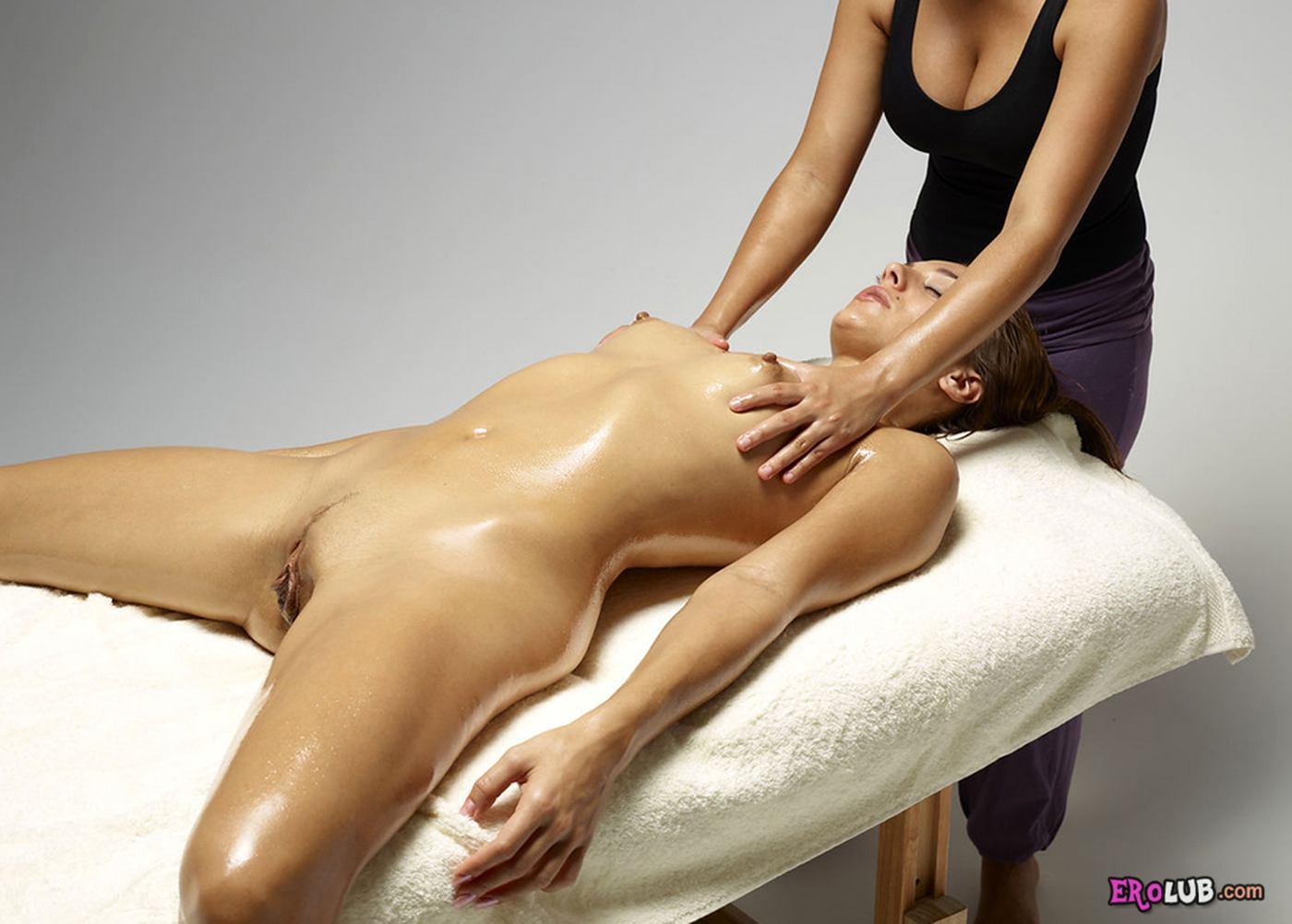 эрот массаж с маслом видео